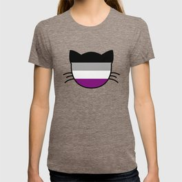 Asexual Flag Cat T-shirt