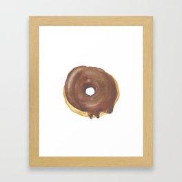 Chocolate Iced Doughnut Framed Art Print