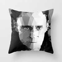 tom selleck Throw Pillows featuring TOM by THE USUAL DESIGNERS