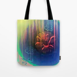 Floral Space Tote Bag