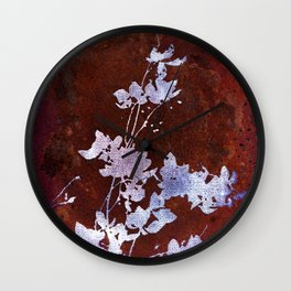 Flaming Flowers Wall Clock