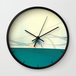 A Day of Sail Boat Racing Wall Clock