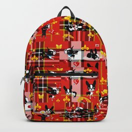 Mirabelle the boston terrier tartan Backpack