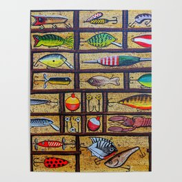 Fishing Lures Collection  Poster