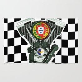 Portuguese Checker Board. Rug