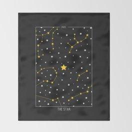 The Star - Tarot Illustration Throw Blanket