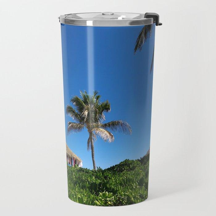 Bahamian Tropical Tiki Hut Travel Mug