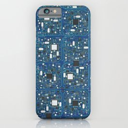 Blue tech iPhone Case