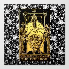 The Emperor - A Floral Tarot Print Canvas Print