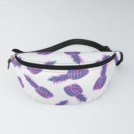 Modern ink Pineapple pattern design - white Fanny Pack