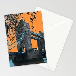 London Bridge with an Orange Sky Stationery Cards