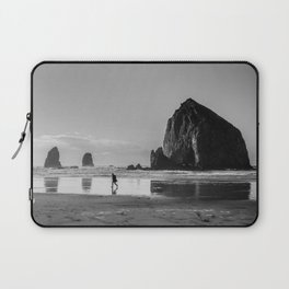 Walking on Cannon Beach Oregon Laptop Sleeve