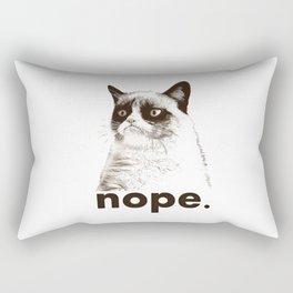 NOPE - Grumpy cat. Rectangular Pillow