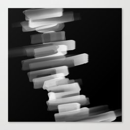 Stairs of Light - Black and White Canvas Print