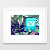 beemo Framed Art Prints featuring Beemo Loves the Garden by MSG Imaging