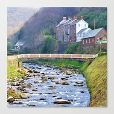 A portrait of Lynmouth Canvas Print