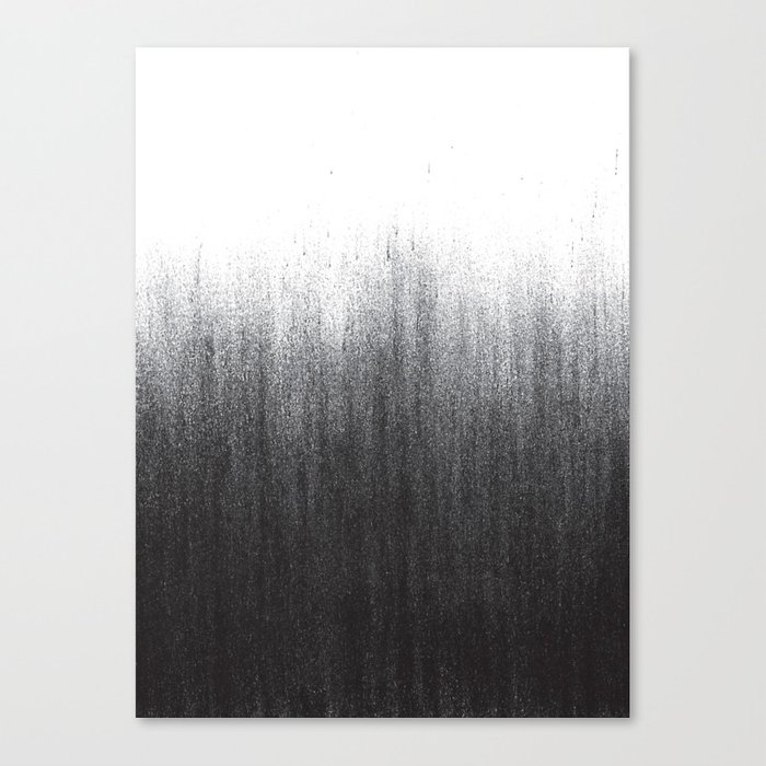 Charcoal Ombré Canvas Print