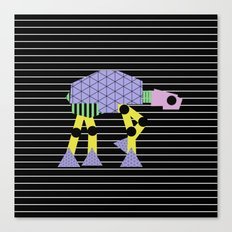 Geometric AT-AT Walker (Pastel Shapes Artwork - Cult Film) Canvas Print