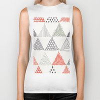 triangle Biker Tanks featuring Triangle by samedia