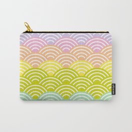 Seigaiha or seigainami literally means blue wave of the sea. rainbow pattern abstract scale Carry-All Pouch