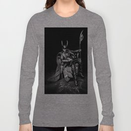 King Loki, Chillaxin' (B/W) Long Sleeve T-shirt