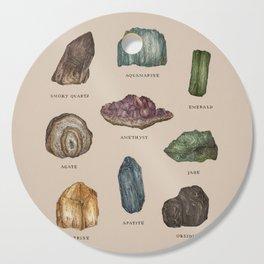 Gems and Minerals Cutting Board