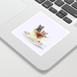 Tea Cup Kitties Sticker