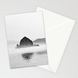 Haystack Rock B&W Stationery Cards