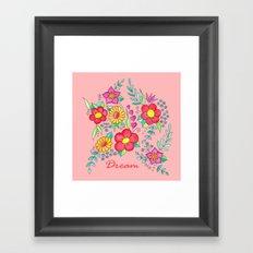 Dream - Bright flowers on pink Framed Art Print
