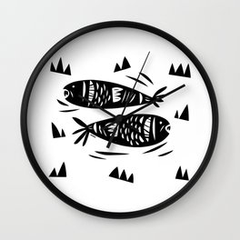 Fish Power Wall Clock