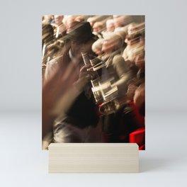 Jazz musician trumpet player Mini Art Print