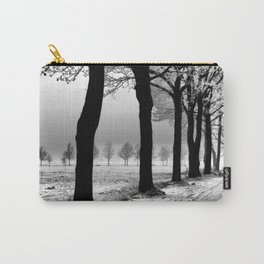 Winter Landscape (Winter Trees, Setting Sun) Carry-All Pouch