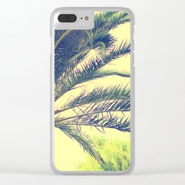 Summer feeling, palm trees in the south Clear iPhone Case