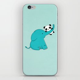 Kawaii Cute Panda and Elephant iPhone Skin