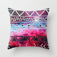 aztec Throw Pillows featuring AZTEC by UDIN