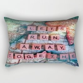 Lets Run Away Together.  Rectangular Pillow