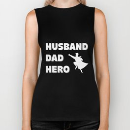 Husband, Dad, Hero - Father's Day Biker Tank