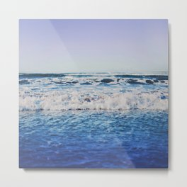 Indigo Waves Metal Print