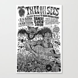 Thee Oh Sees 2012 Canvas Print