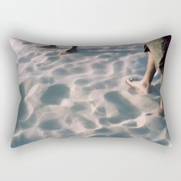 Feet on Sand Rectangular Pillow
