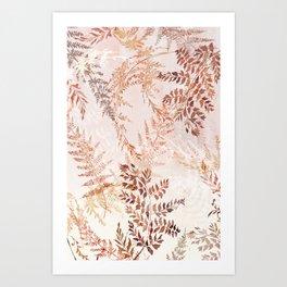 Snowflake ferns Art Print