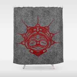 Blood Frog Smoke Shower Curtain