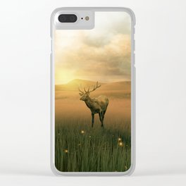 The deer into the lights Clear iPhone Case