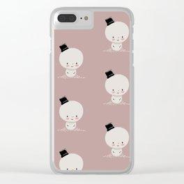 Snowman cutie Clear iPhone Case