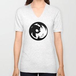 Wrath of Nazo Black and White Emblem Unisex V-Neck