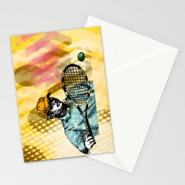 Tennis Backhand Stationery Cards