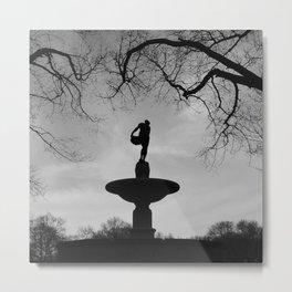 'Pulitzer Fountain NYC' Metal Print