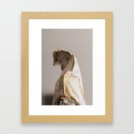 Mongrel Grey Framed Art Print