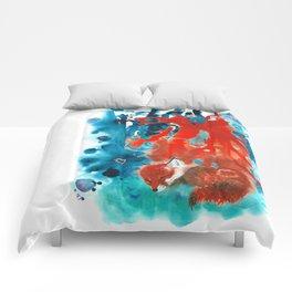 dream schedule of a little fox Comforters