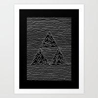 joy division Art Prints featuring Triforce // Joy Division by Daniel Mackey